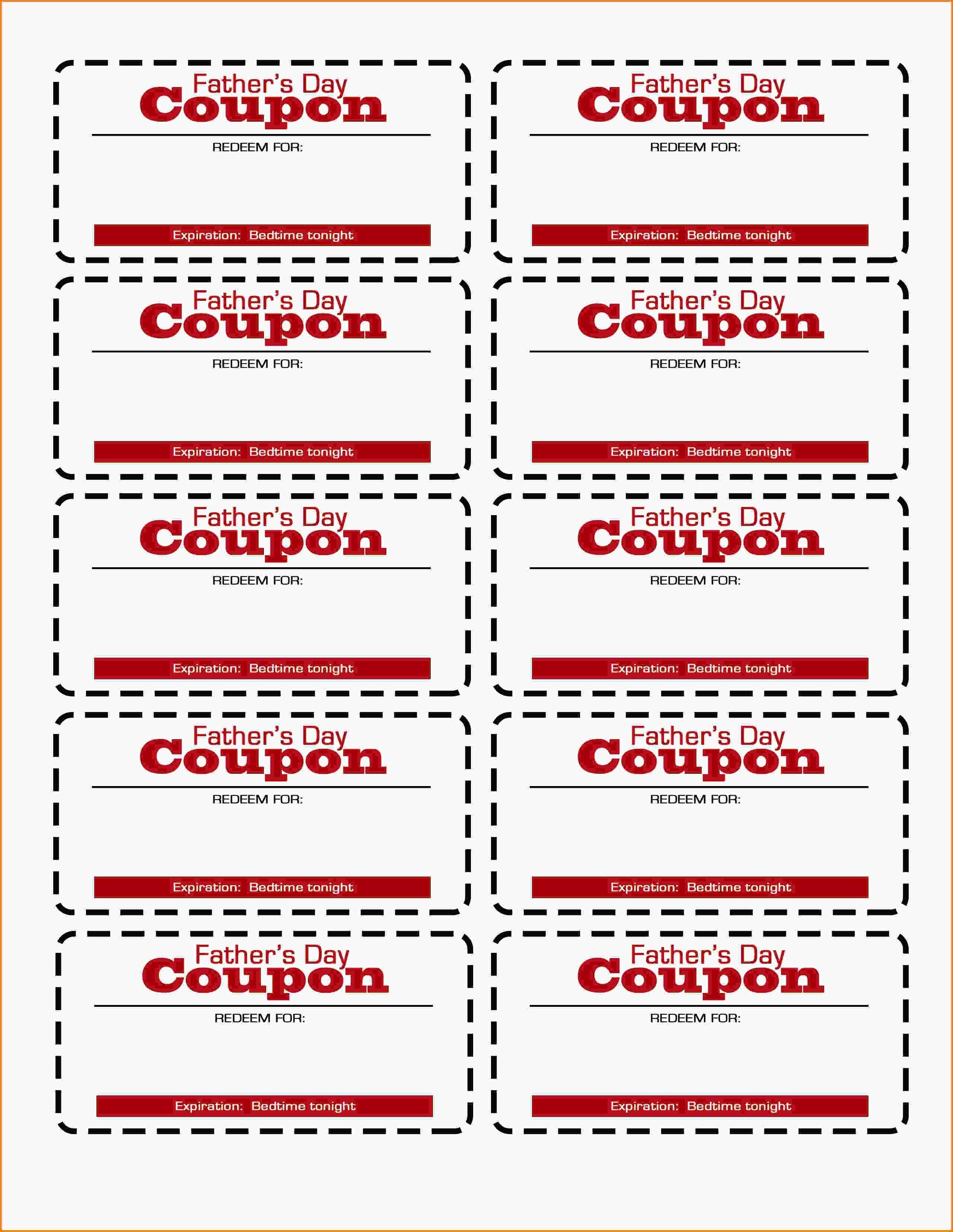 Father's Day Coupon Printable! | Flourish | Free Resources For Pro - Free Printable Coupon Templates