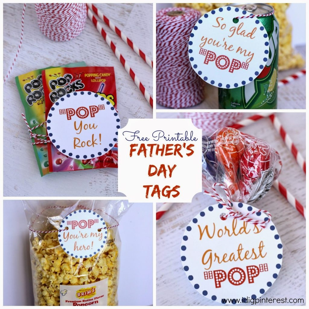"""Father's Day """"pop"""" {Free Printables} - I Dig Pinterest - Free Printable Father's Day Labels"""