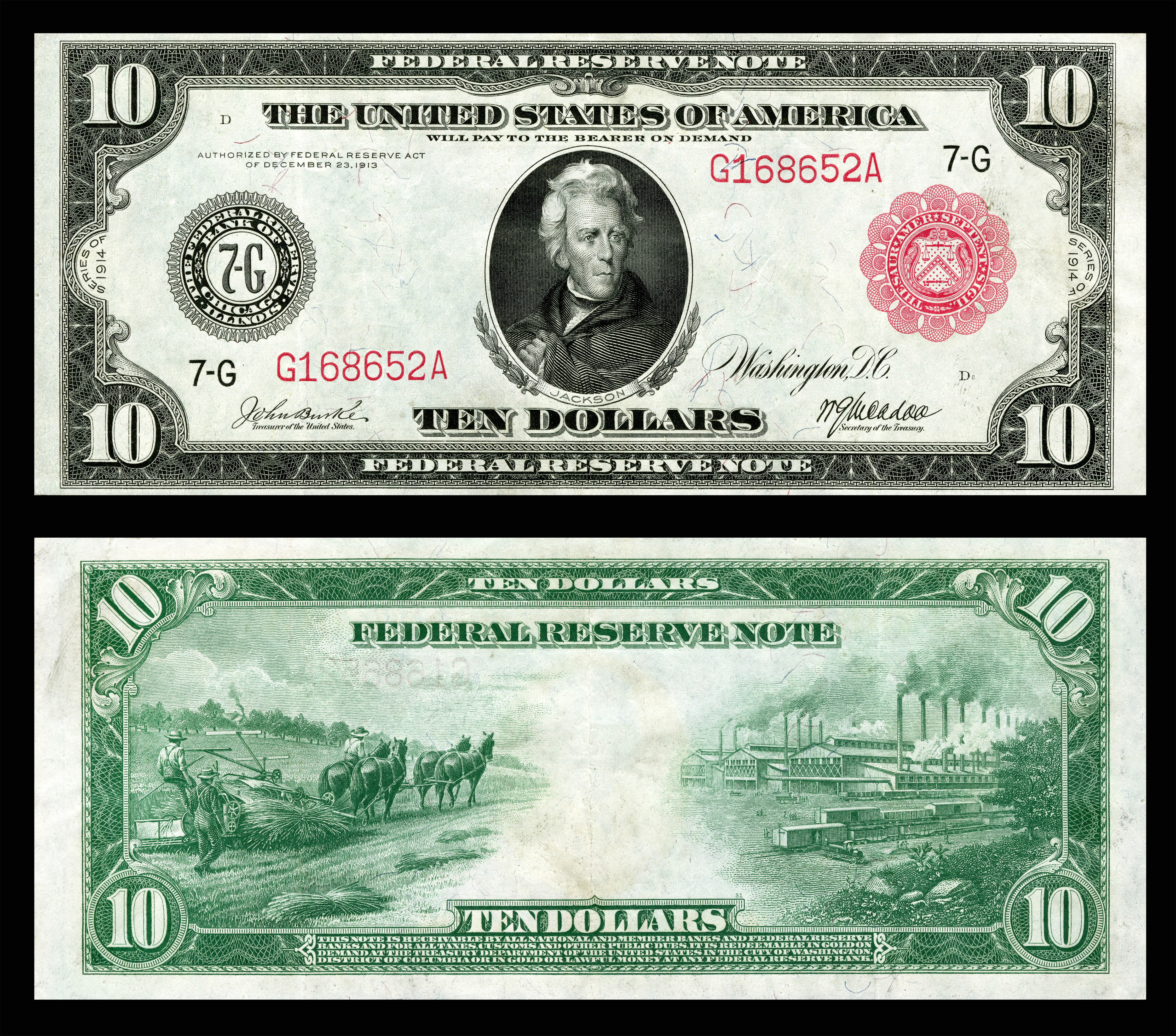 Federal Reserve Note - Wikipedia - Free Printable Us Currency