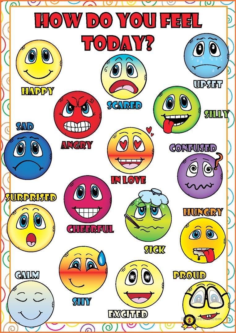 Feelings And Emotions Poster Worksheet - Free Esl Printable - Free Printable Pictures Of Emotions