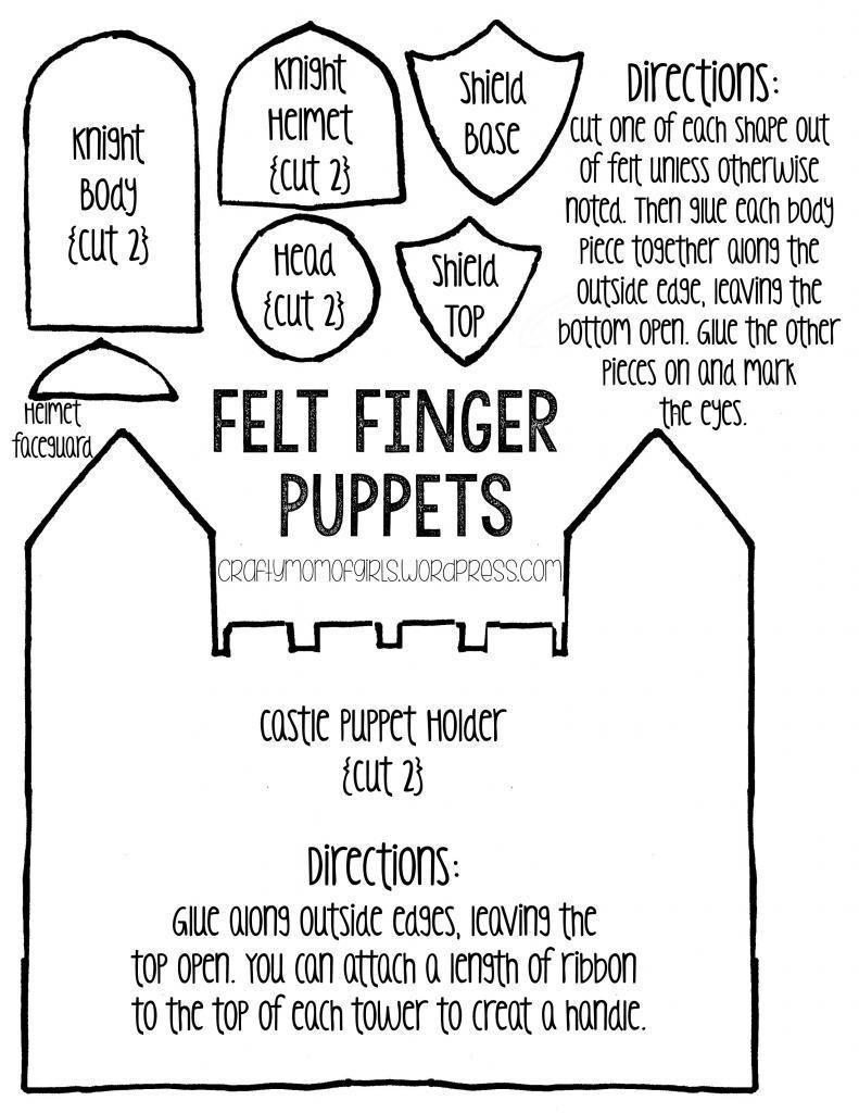 Felt Finger Puppets {Free Printable Template} | Puppets | Finger - Free Printable Finger Puppet Templates