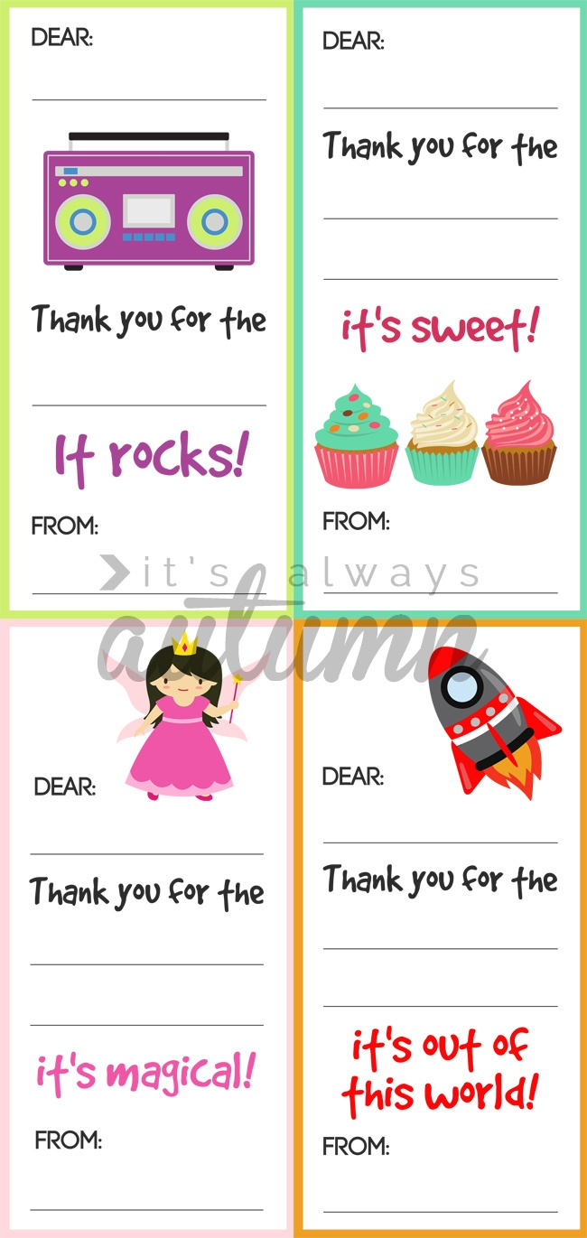 Fill In The Blank Thank You Note Printables For Kids - It's Always - Fill In The Blank Thank You Cards Printable Free