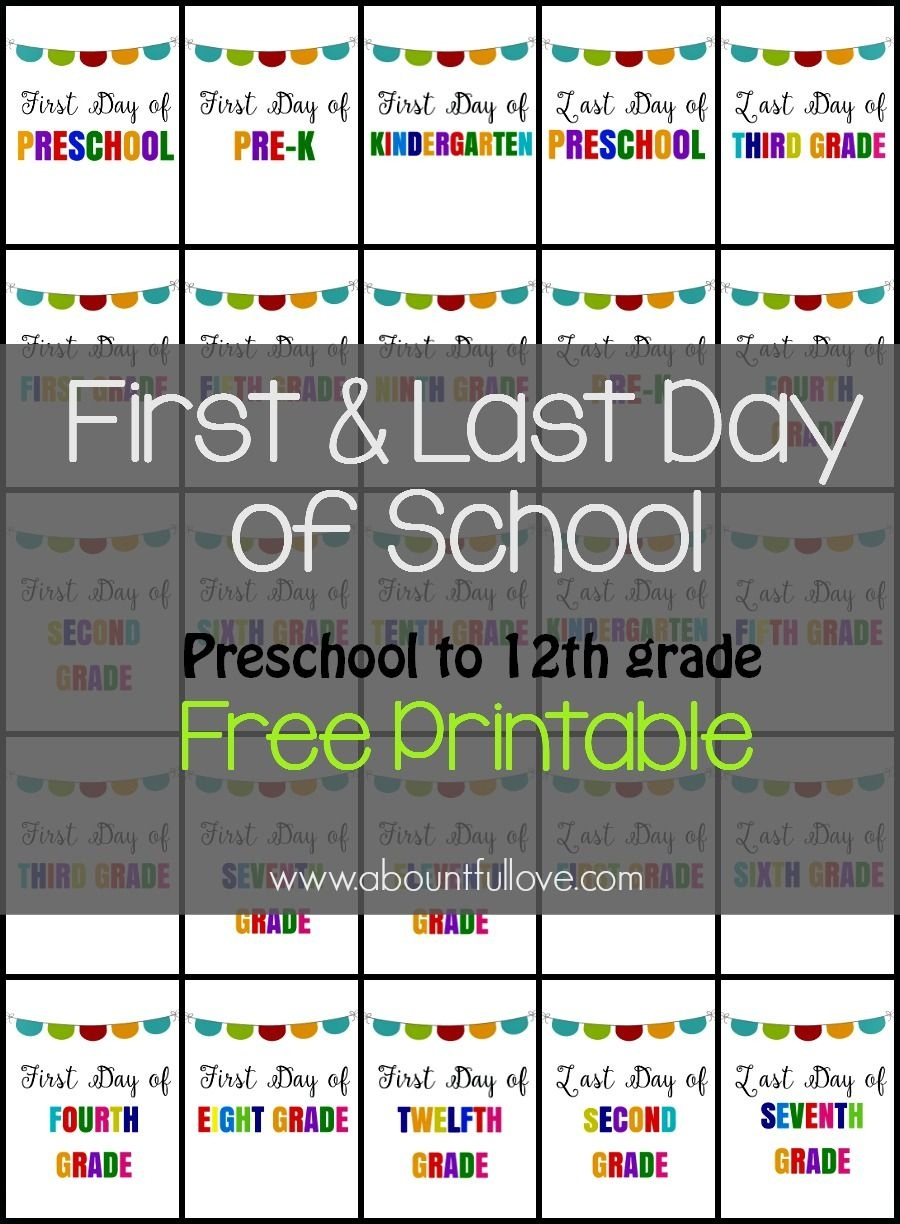 First And Last Day Of School Sign Printable   Kid Stuff   School - First Day Of 3Rd Grade Free Printable
