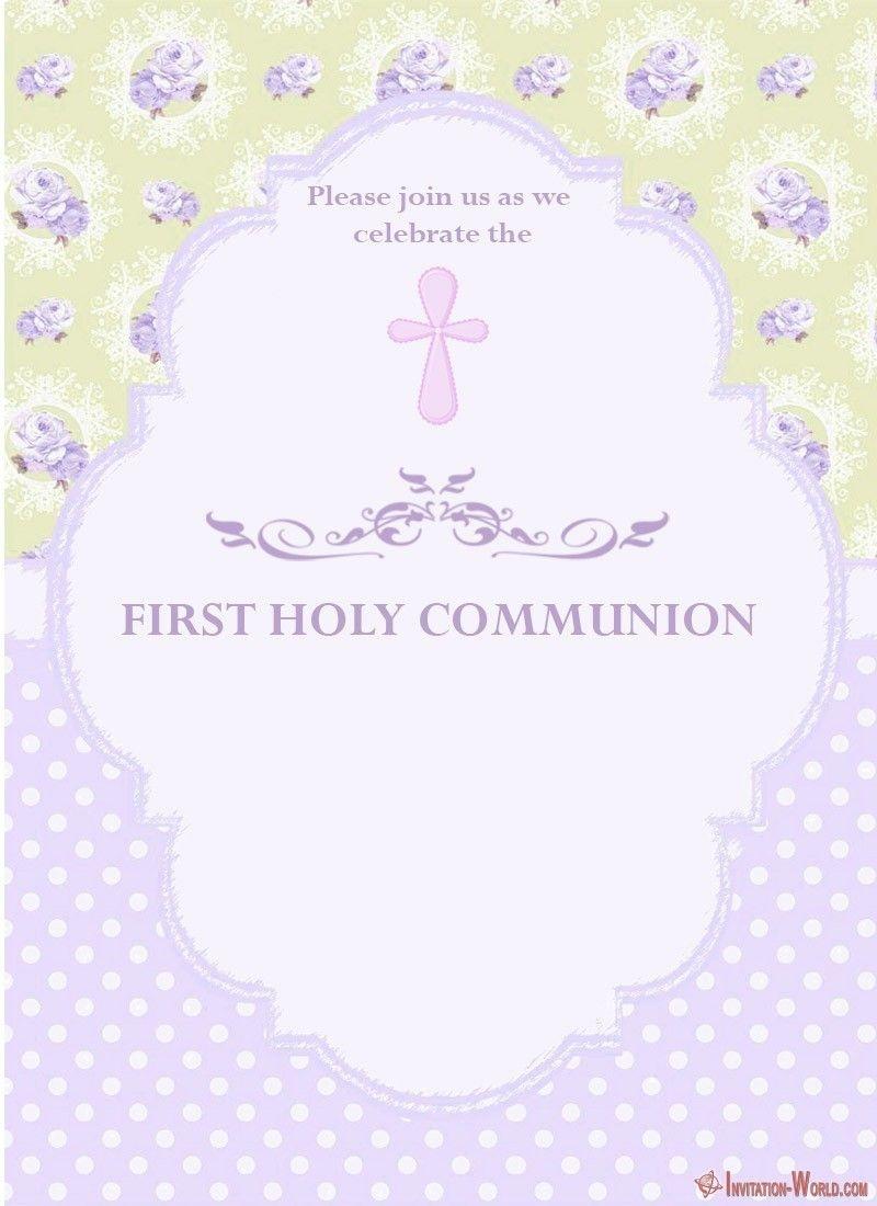 First Communion Invitation Cards | Coolest Invitation Templates - Free Printable 1St Communion Invitations