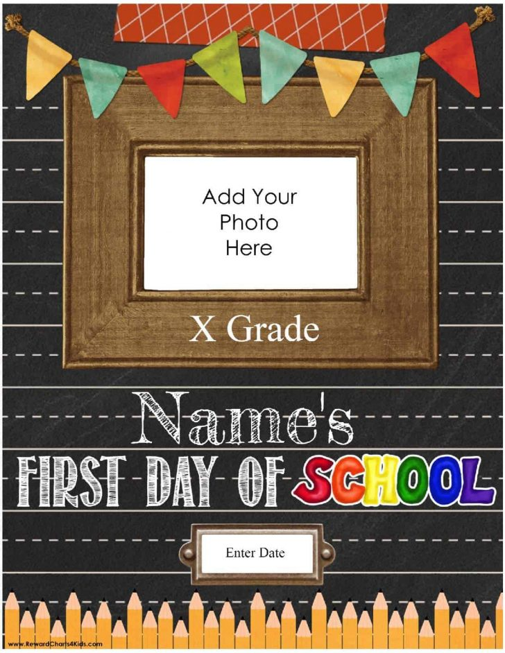 Free Printable First Day Of School Certificate