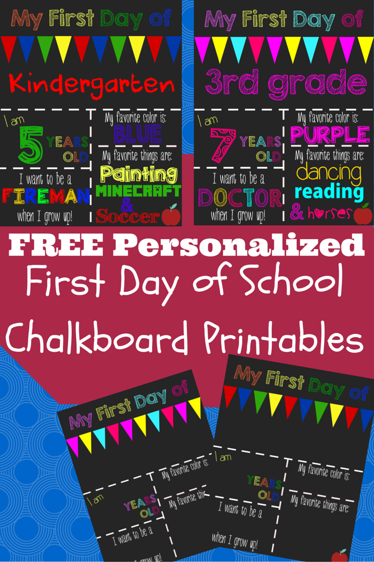 First Day Of School Printable Chalkboard Sign | School | 1St Day Of - First Day Of School Printable Free