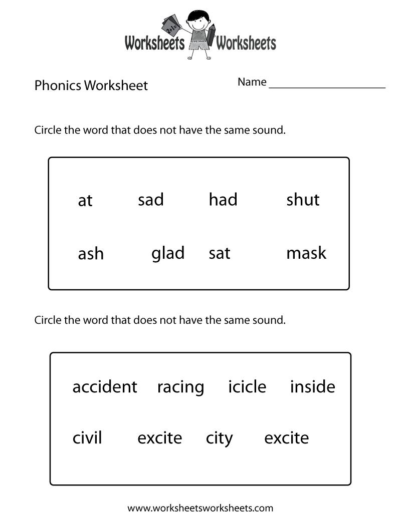 First Grade Phonics Worksheet Printable. The Bottom Part Is Advanced - Free Printable Grade 1 Phonics Worksheets