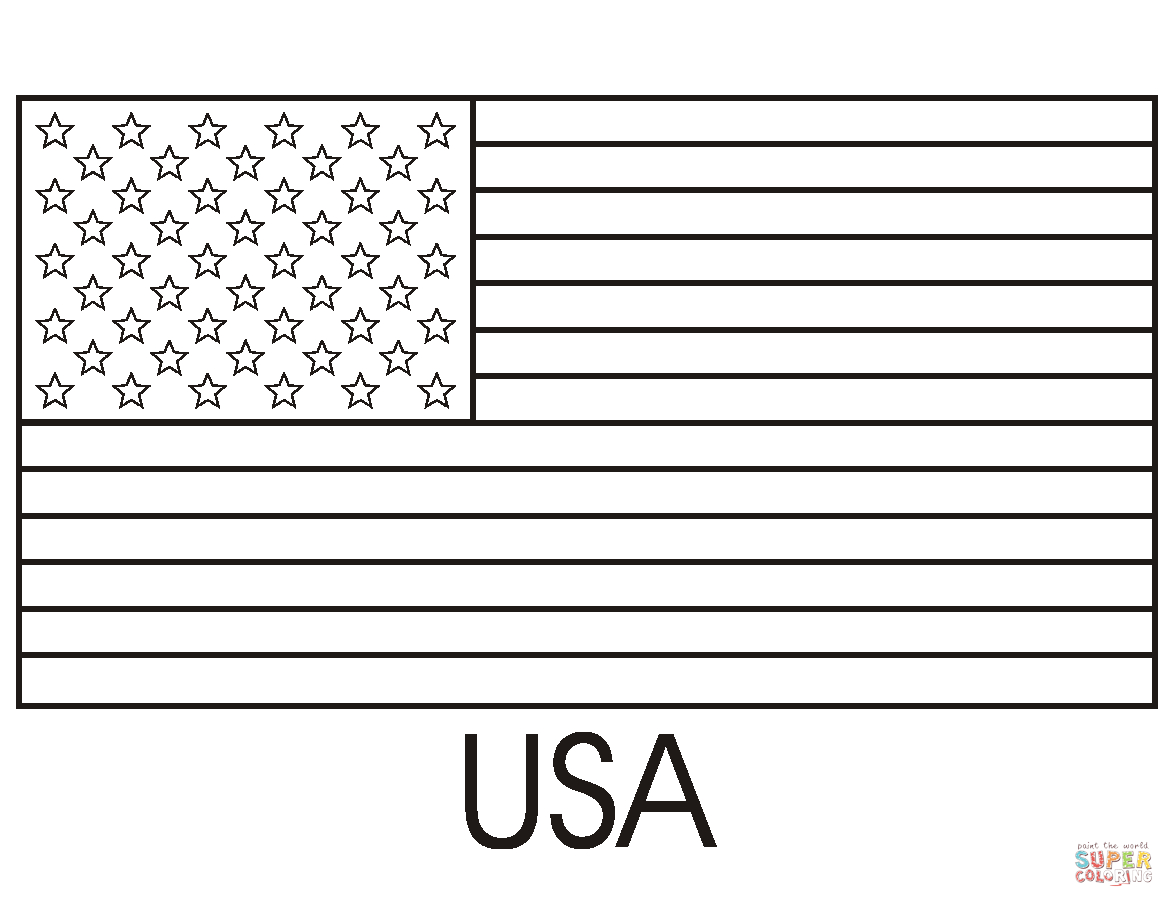 Flag Of The United States Of America Coloring Page | Free Printable - Free Printable American Flag Coloring Page