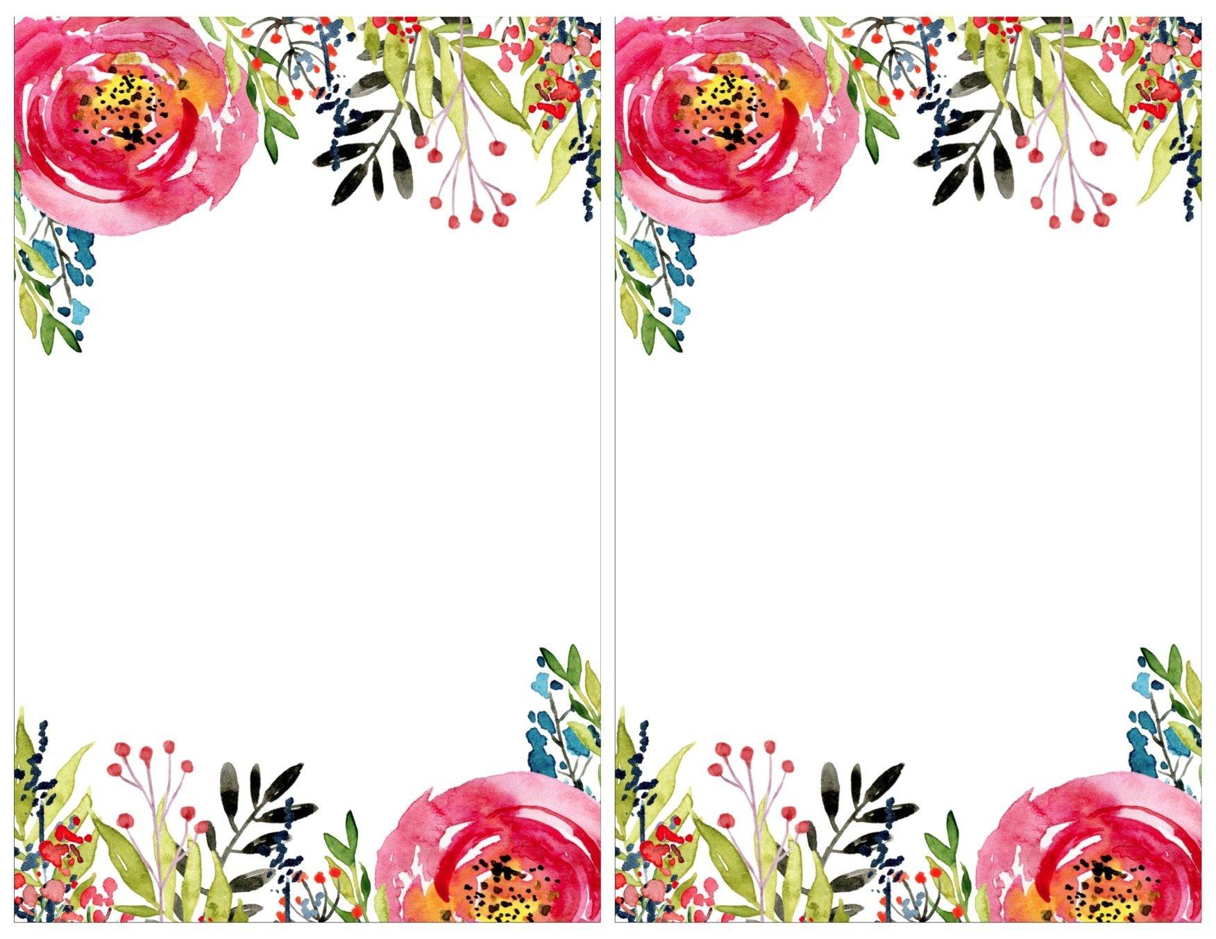 Floral Invitation Template {Free Printable} | #eakertobeamoses - Free Printable Event Invitations