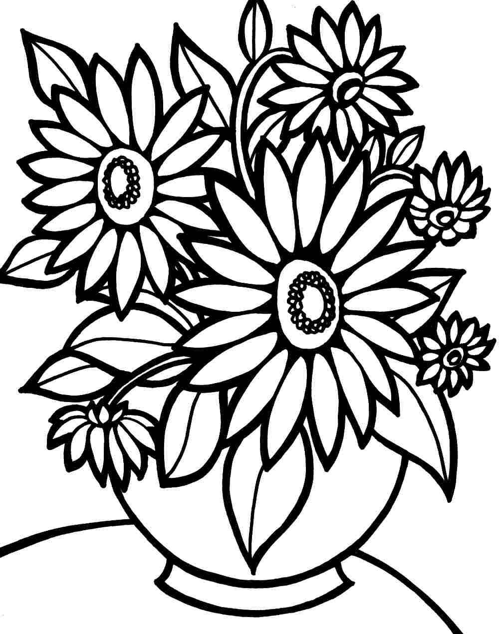 Flower Coloring Pages | Free Download Best Flower Coloring Pages On - Free Printable Flower Coloring Pages