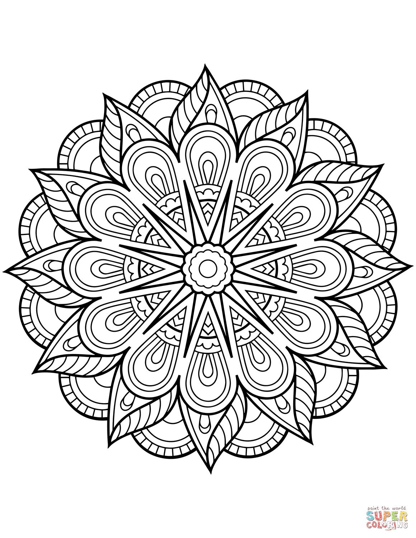 Flower Mandala Coloring Page Free Printable Coloring Pages   Line - Free Printable Mandala Patterns