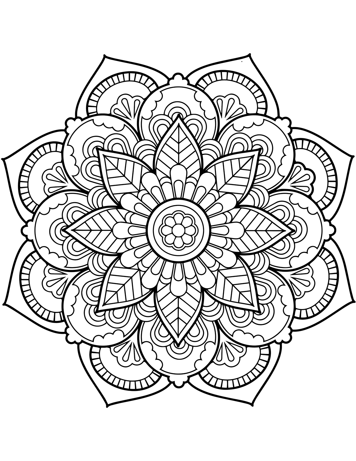 Flower Mandala Coloring Pages - Best Coloring Pages For Kids - Mandala Coloring Free Printable