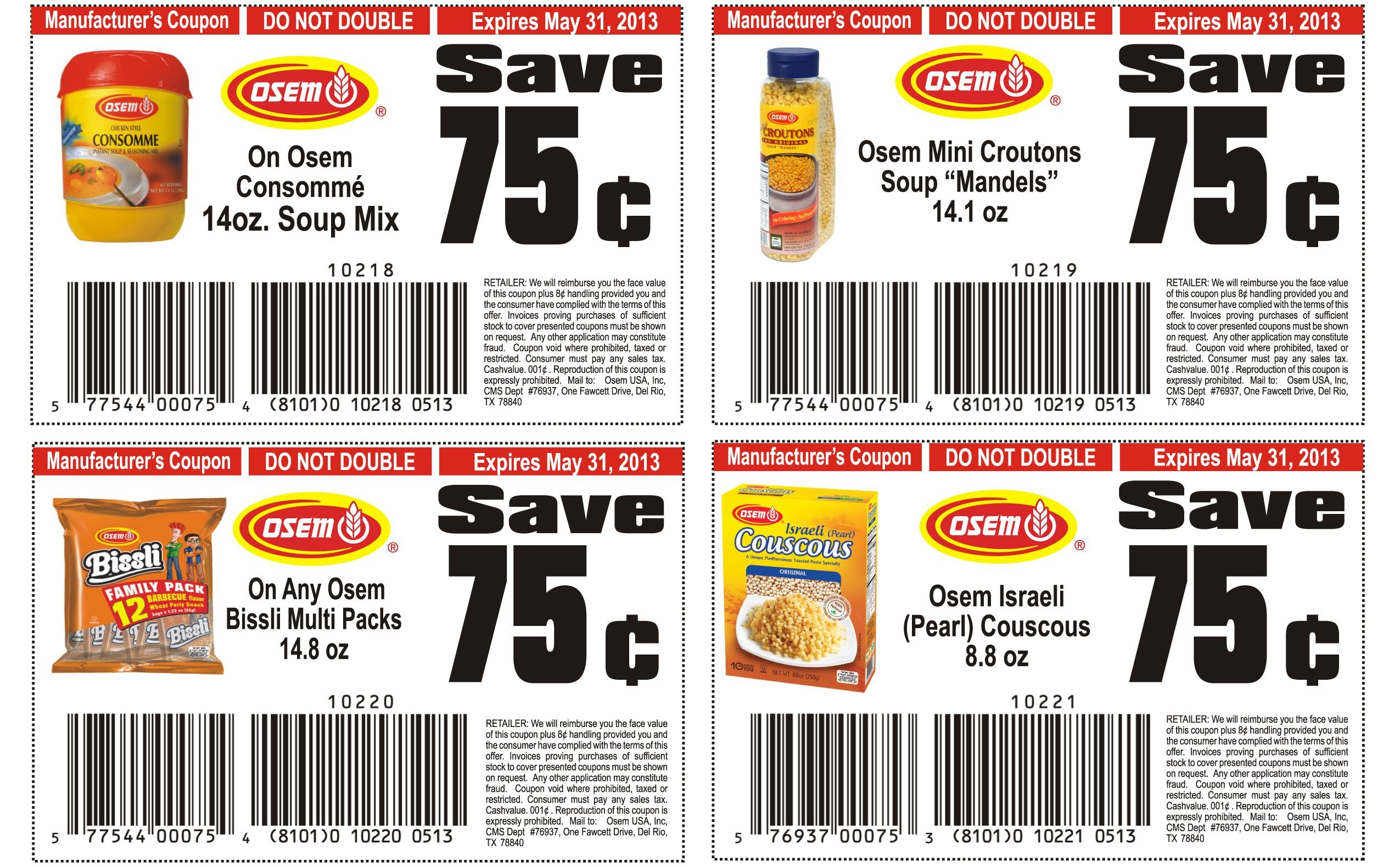 Food Coupons To Print   Osem List Of Healthy Food Printable Coupons - Free Printable Coupons For Food