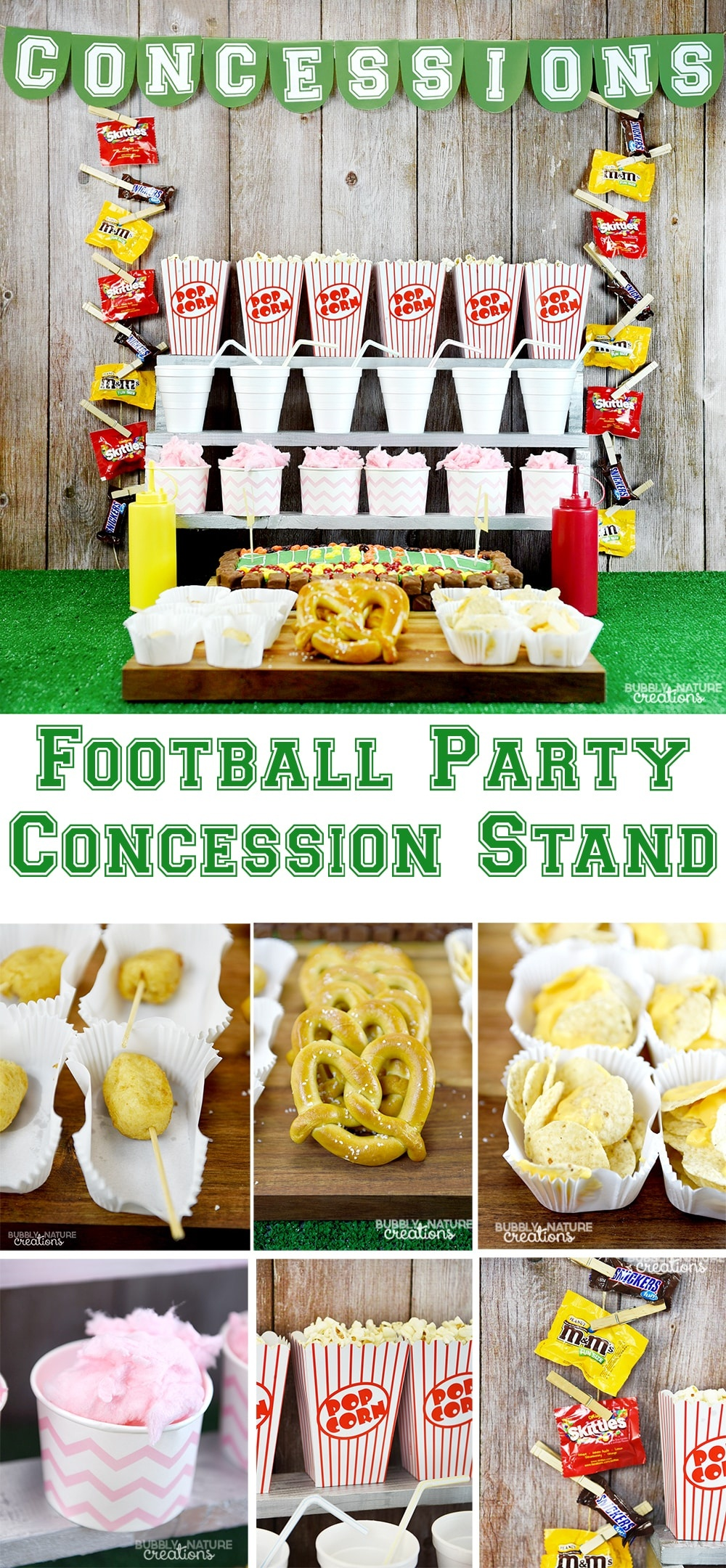 Football Party Concession Stand ⋆ Sprinkle Some Fun - Free Concessions Printable