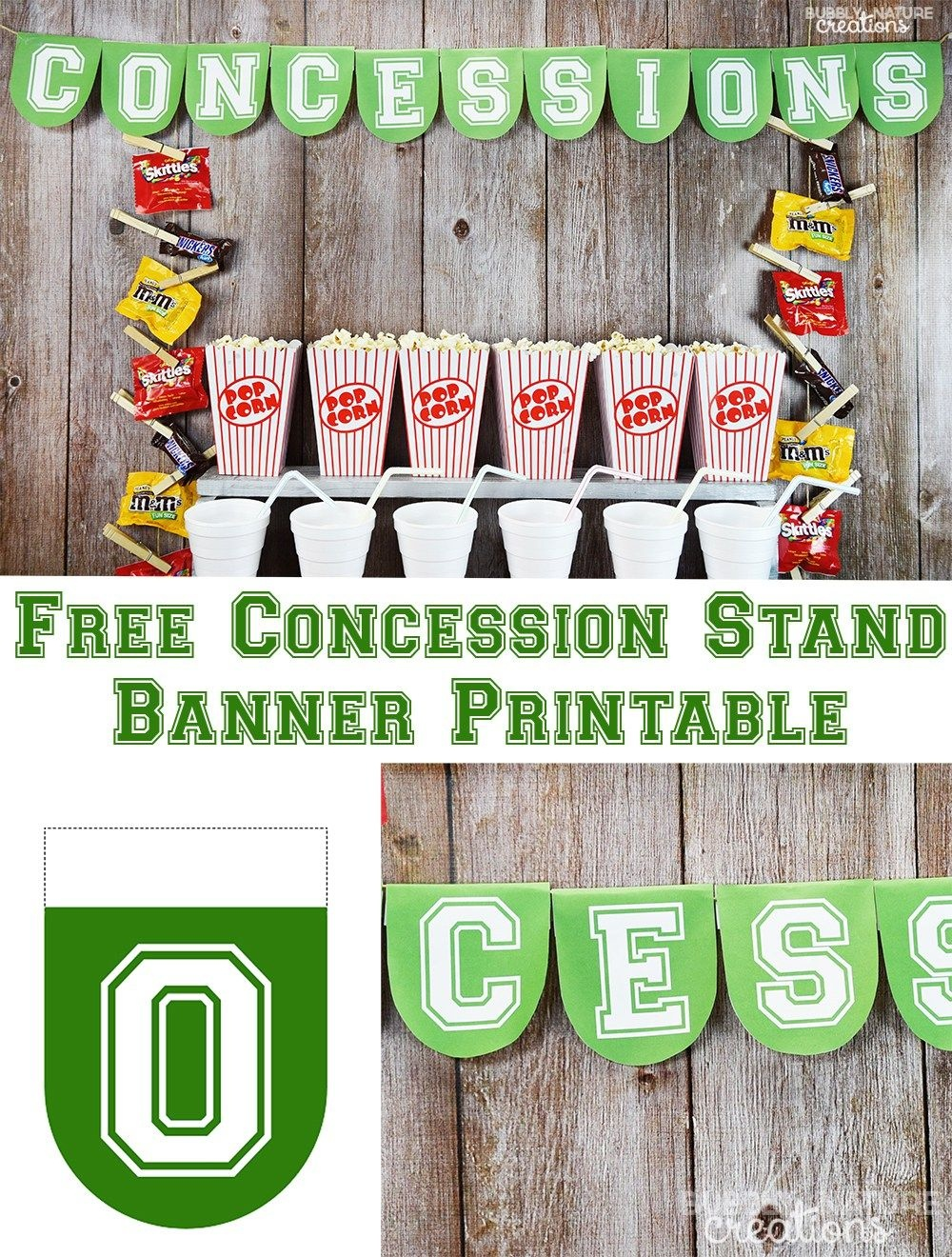 Football Party Concession Stand | Recipe | Football Mom | Sports - Free Concessions Printable