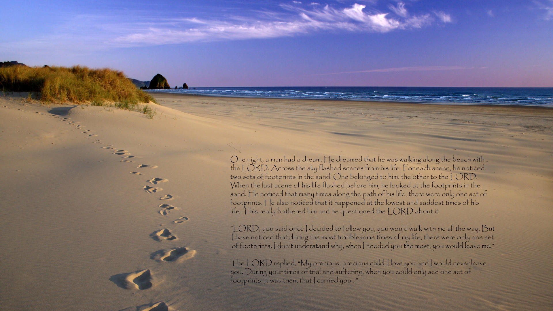 Footprints In The Sand Hd Wallpaper   Background Image   1920X1080 - Footprints In The Sand Printable Free