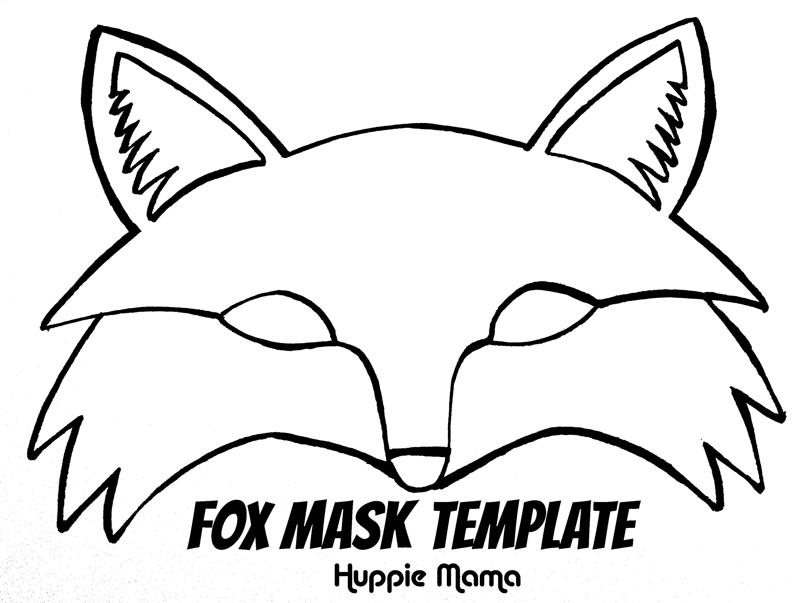 Fox Mask Template   Wood Work   Fox Mask, Fantastic Mr Fox, Mr Fox - Free Printable Fox Mask Template