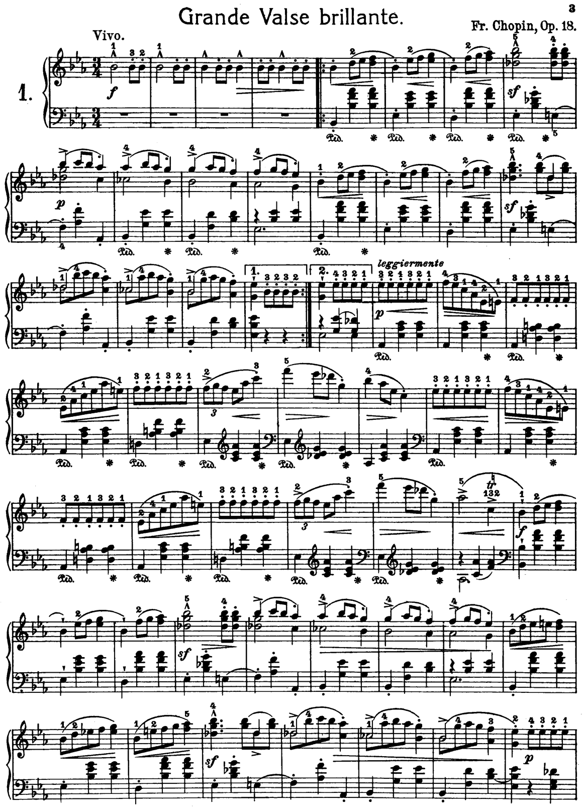 Frederic Chopin Grand Waltz Op.18 Free Printable Sheet Music   Misc - Free Printable Sheet Music