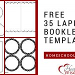 Free 35 Lapbook Booklet Templates – Heart Of Wisdom   Free Printable Lapbook Templates