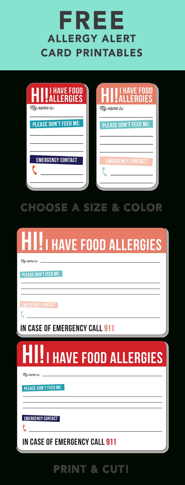 Free Allergy Alert Printables | {Be Brave} And Diy | Food Allergies - Printable Nut Free Signs