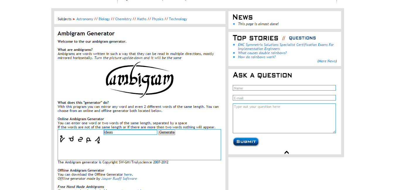 Free Ambigram Generators Online 2019 + Creative Example Designs - Ambigram Generator Free Printable