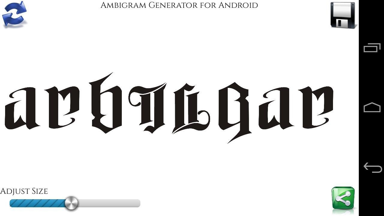Free Ambigram Tattoo Generator Software Download - Ambigram Generator Free Printable