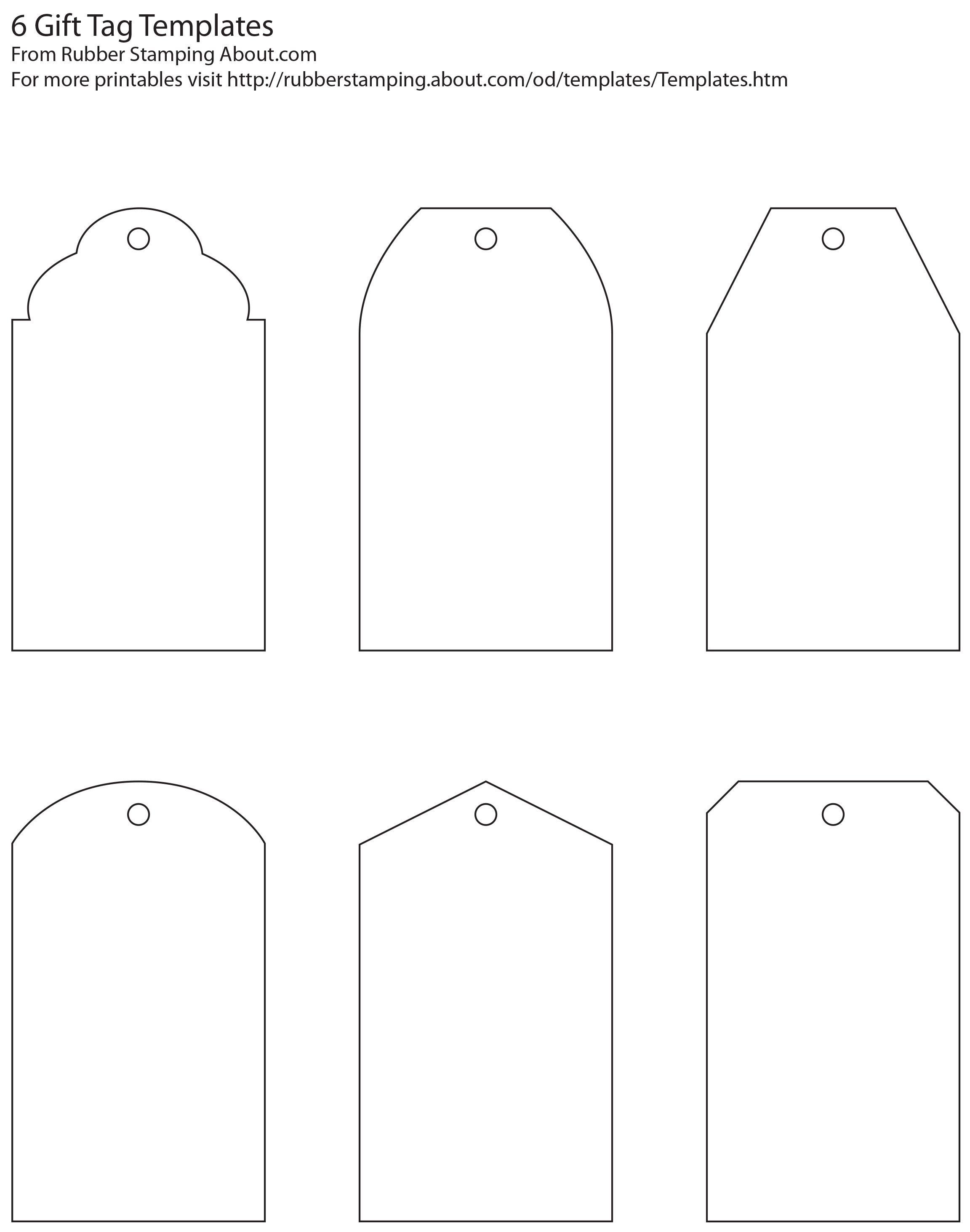 Free And Whimsical Printable Gift Tag Templates | Great Idea - Free Printable Gift Bag Tags