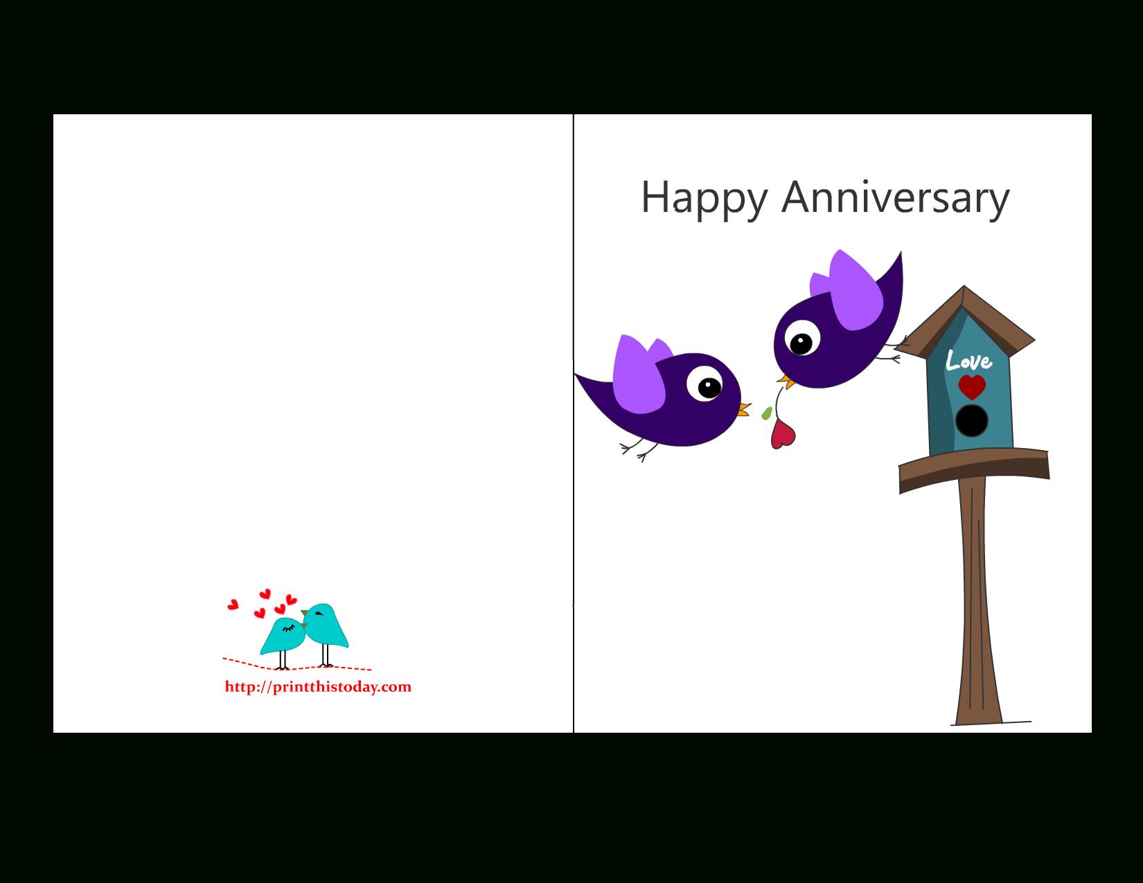 Free Anniversary Cards To Print | Free Printable Anniversary Cards - Free Printable Anniversary Cards