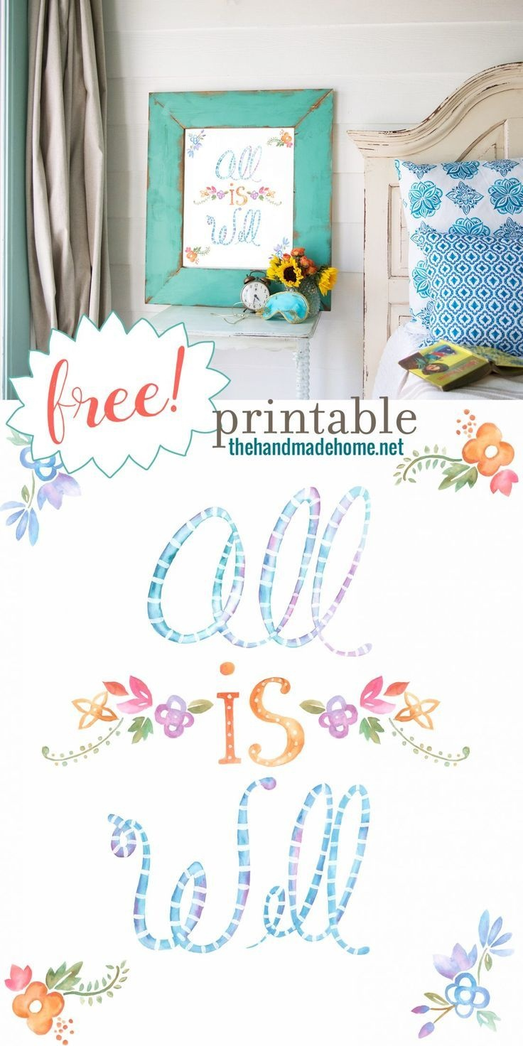 Free Art - All Is Well Freebie Plus So Many Other Free Peices - Free Printable Artwork