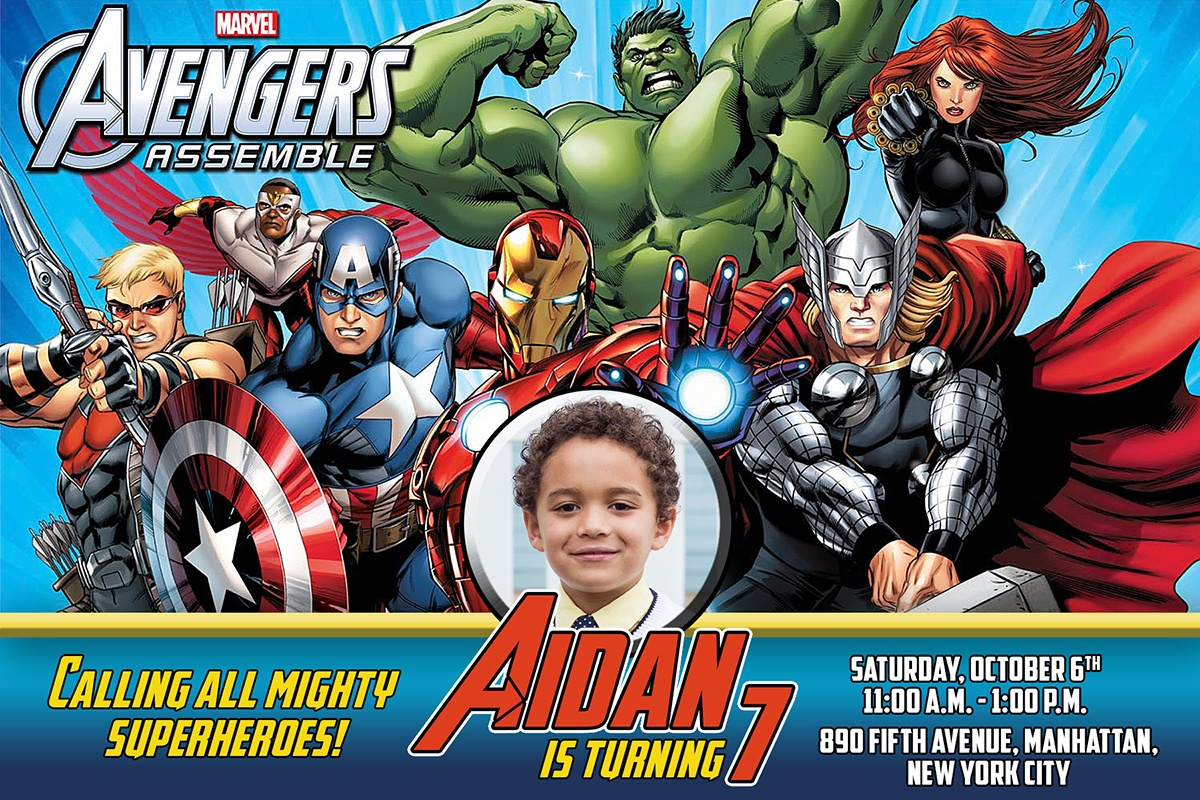 Free Avengers Birthday Invitation   Dioskouri Designs - Free Printable Avengers Birthday Party Invitations