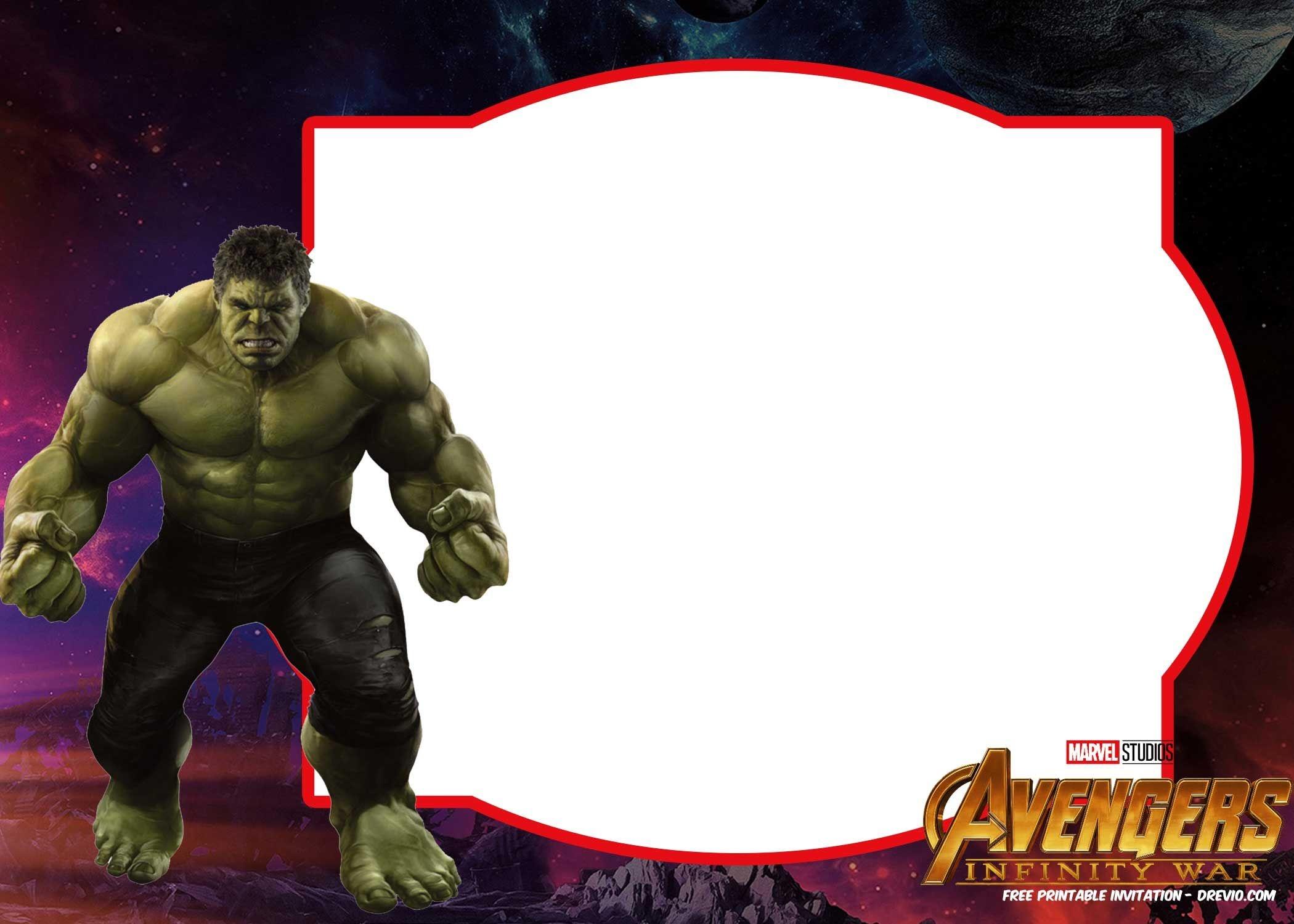 Free Avengers Infinity Wars Birthday Invitation Templates - All - Free Printable Avengers Birthday Party Invitations