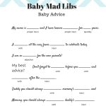 Free Baby Mad Libs Game   Baby Advice   Baby Shower Ideas   Themes   Baby Shower Mad Libs Printable Free