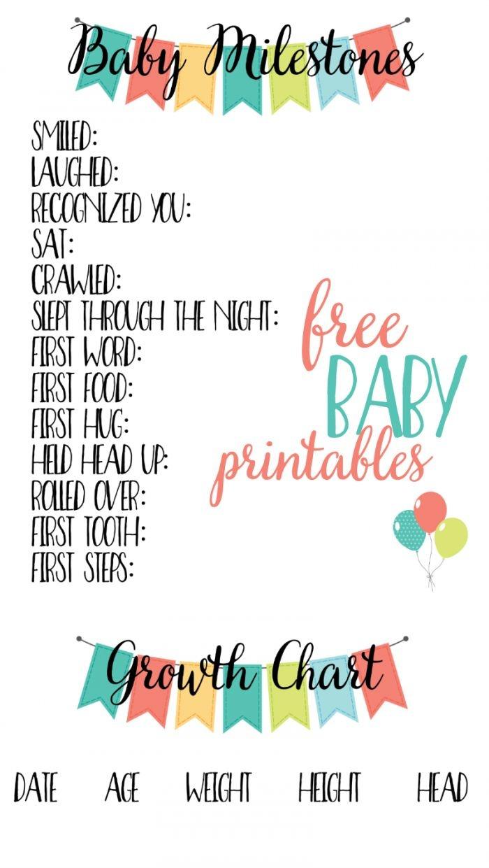 Free Baby Printables: Track Milestones | >> Free Printables | Baby - Free Printable Baby Memory Book