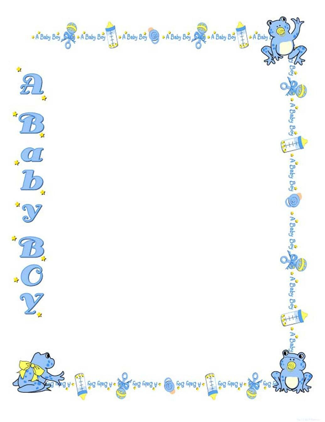 Free Baby Shower Border Templates - Cliparts.co   Baby Shower   Baby - Free Printable Baby Borders For Paper