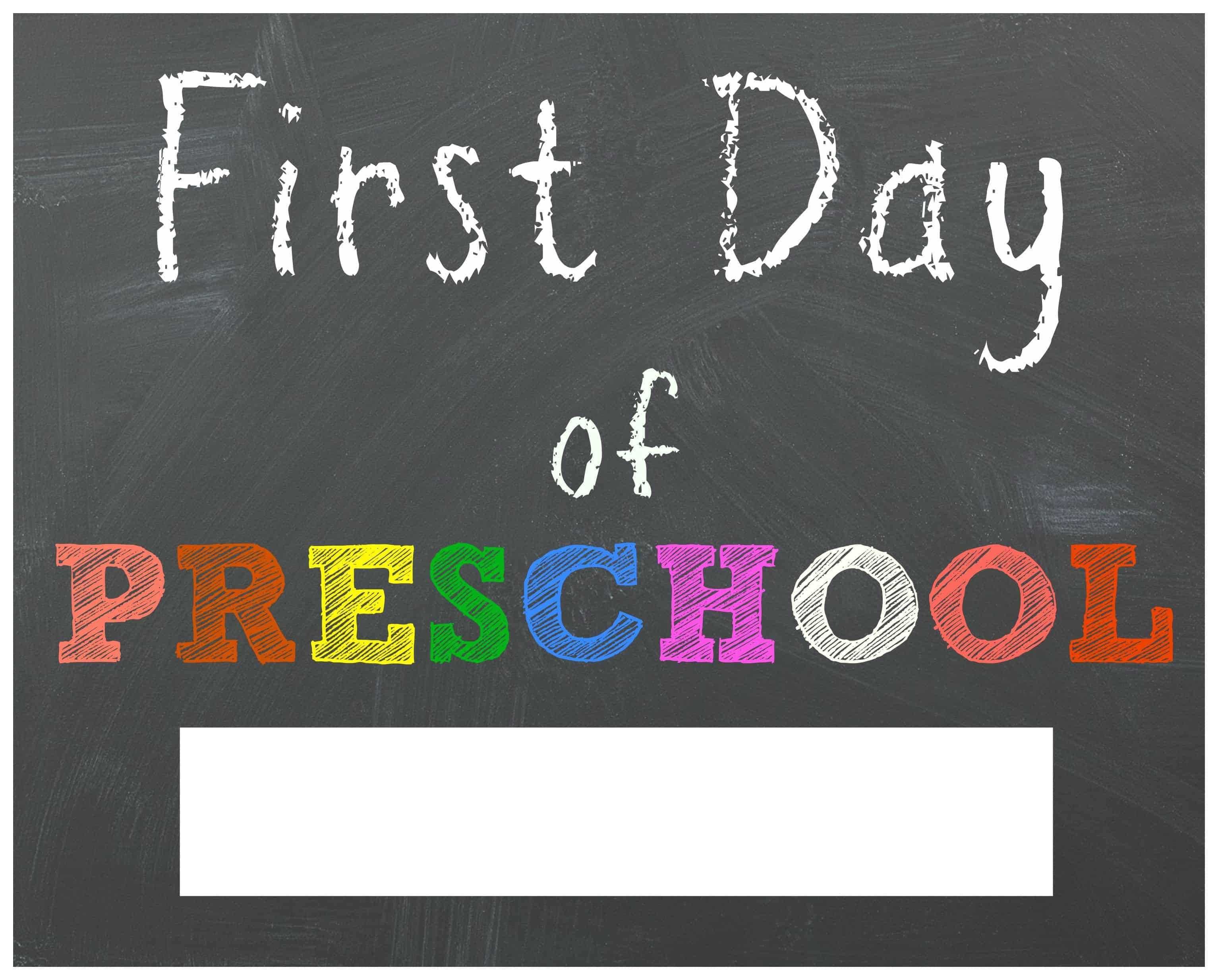 Free Back To School Printable Chalkboard Signs For First Day Of - Free Printable First Day Of School Chalkboard Signs