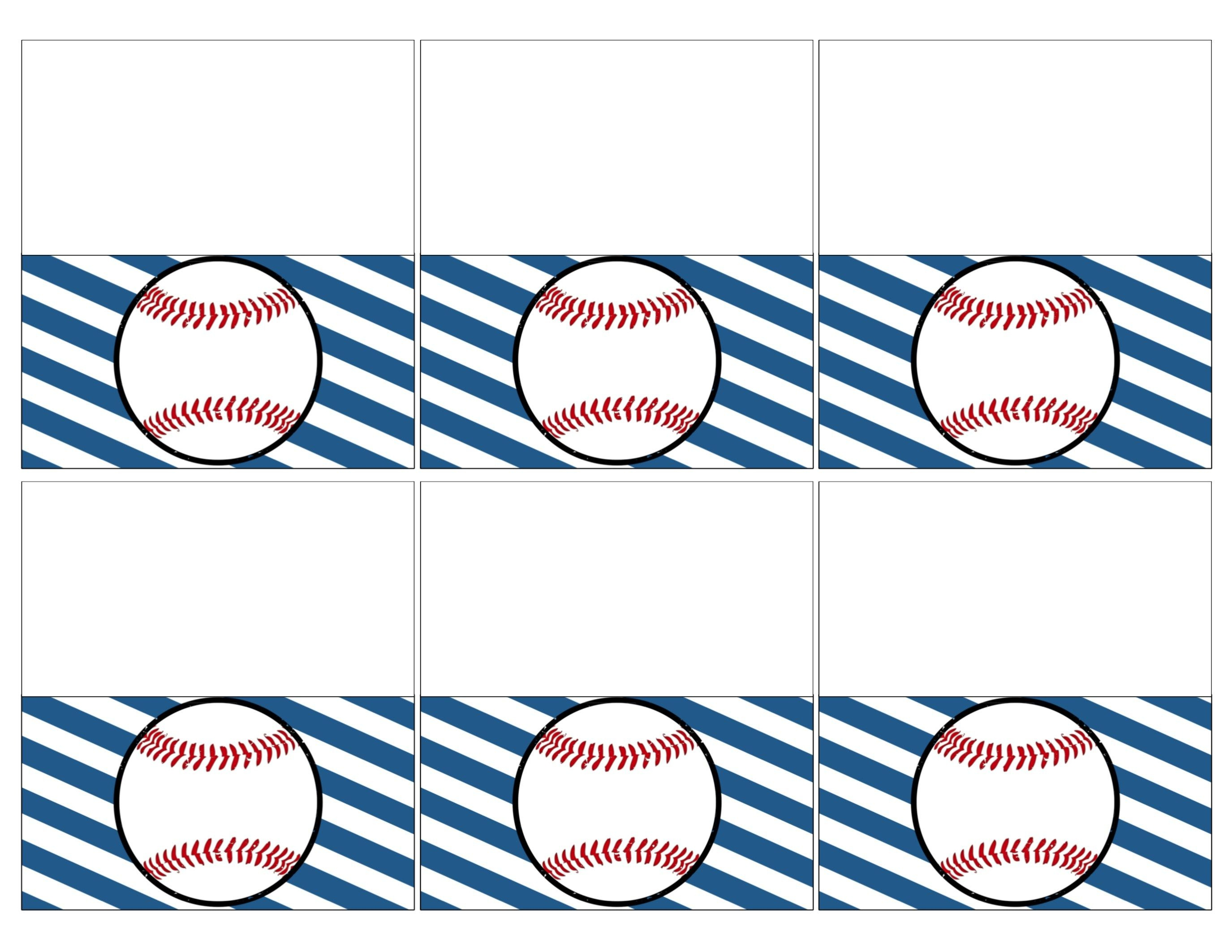 Free Baseball Printables {Baseball Party Decorations} | We Like, We - Free Printable Baseball Favor Tags