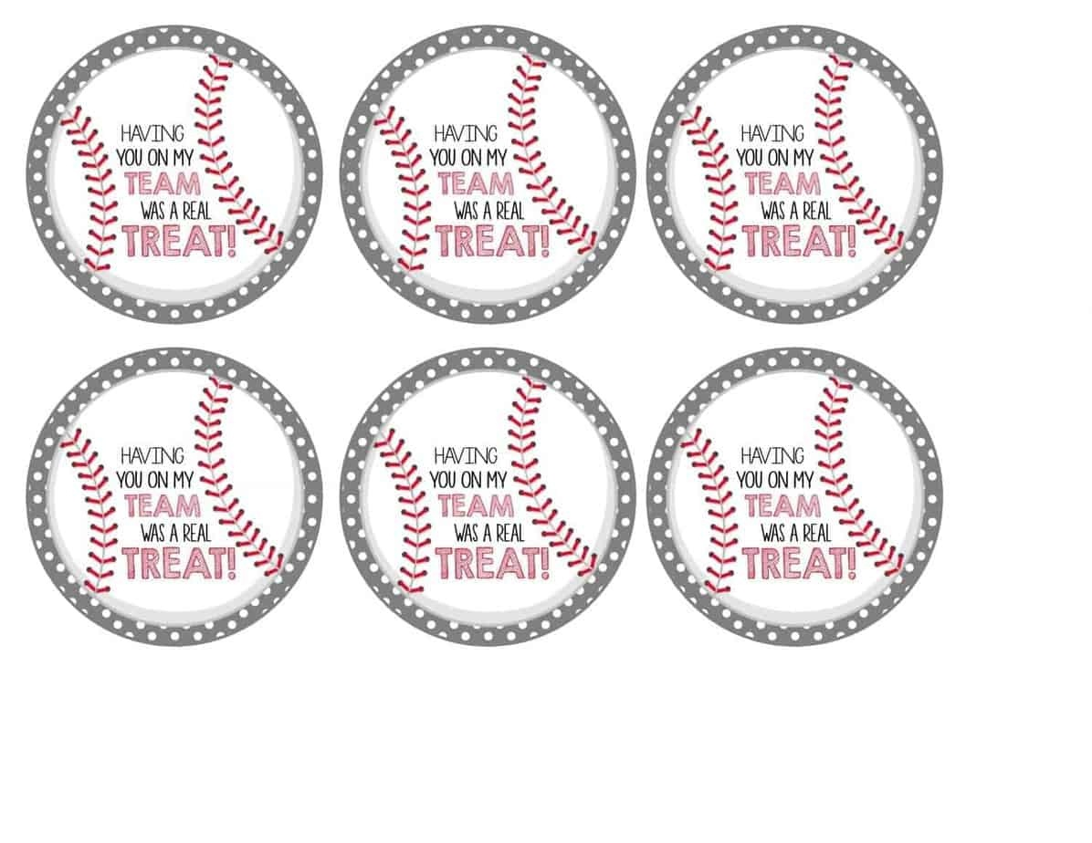 Free Baseball Tags + Rice Krispies Treats® | Mimi's Dollhouse - Free Printable Baseball Favor Tags