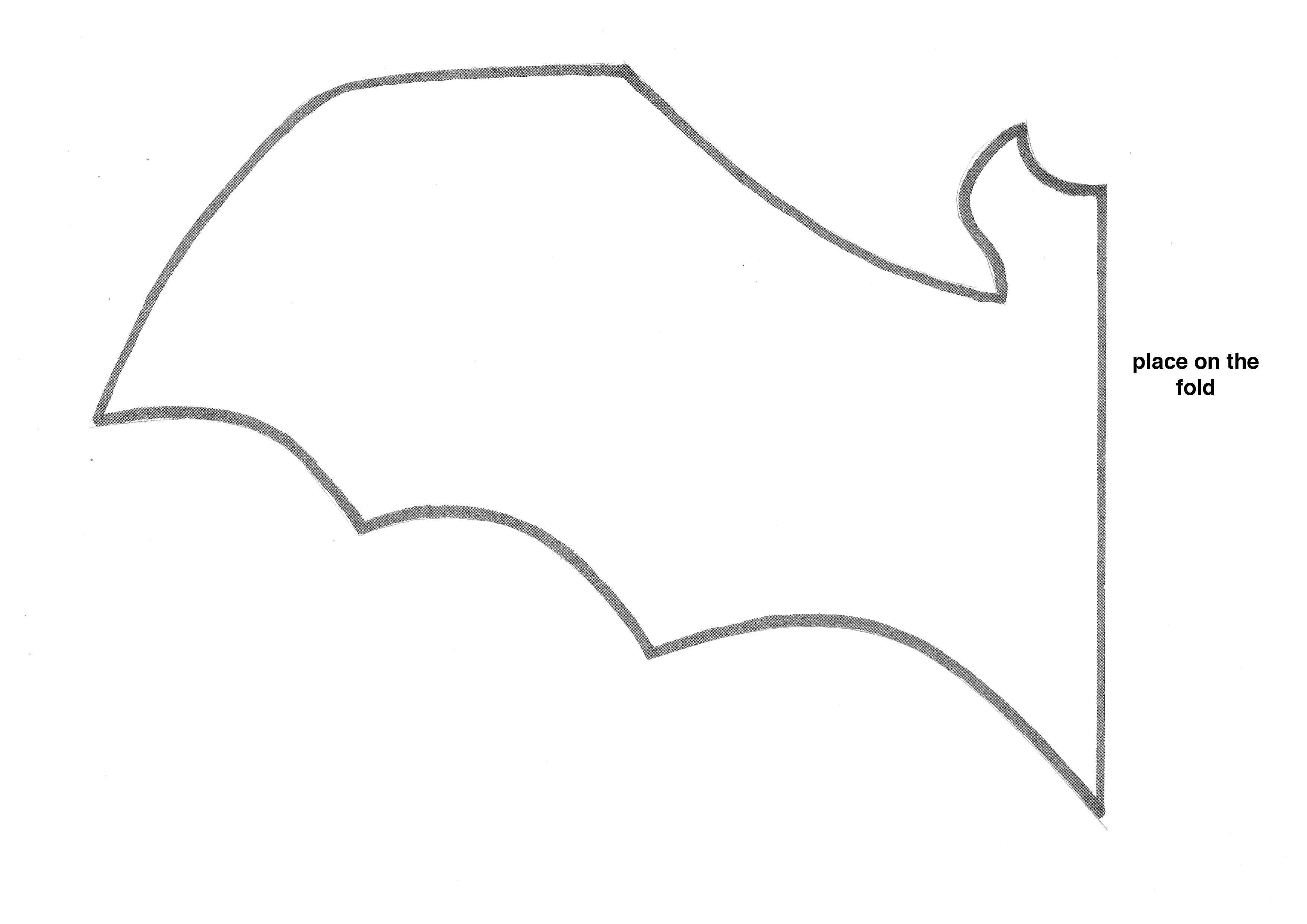 Free Bat Template, Download Free Clip Art, Free Clip Art On Clipart - Free Printable Bat Writing Paper