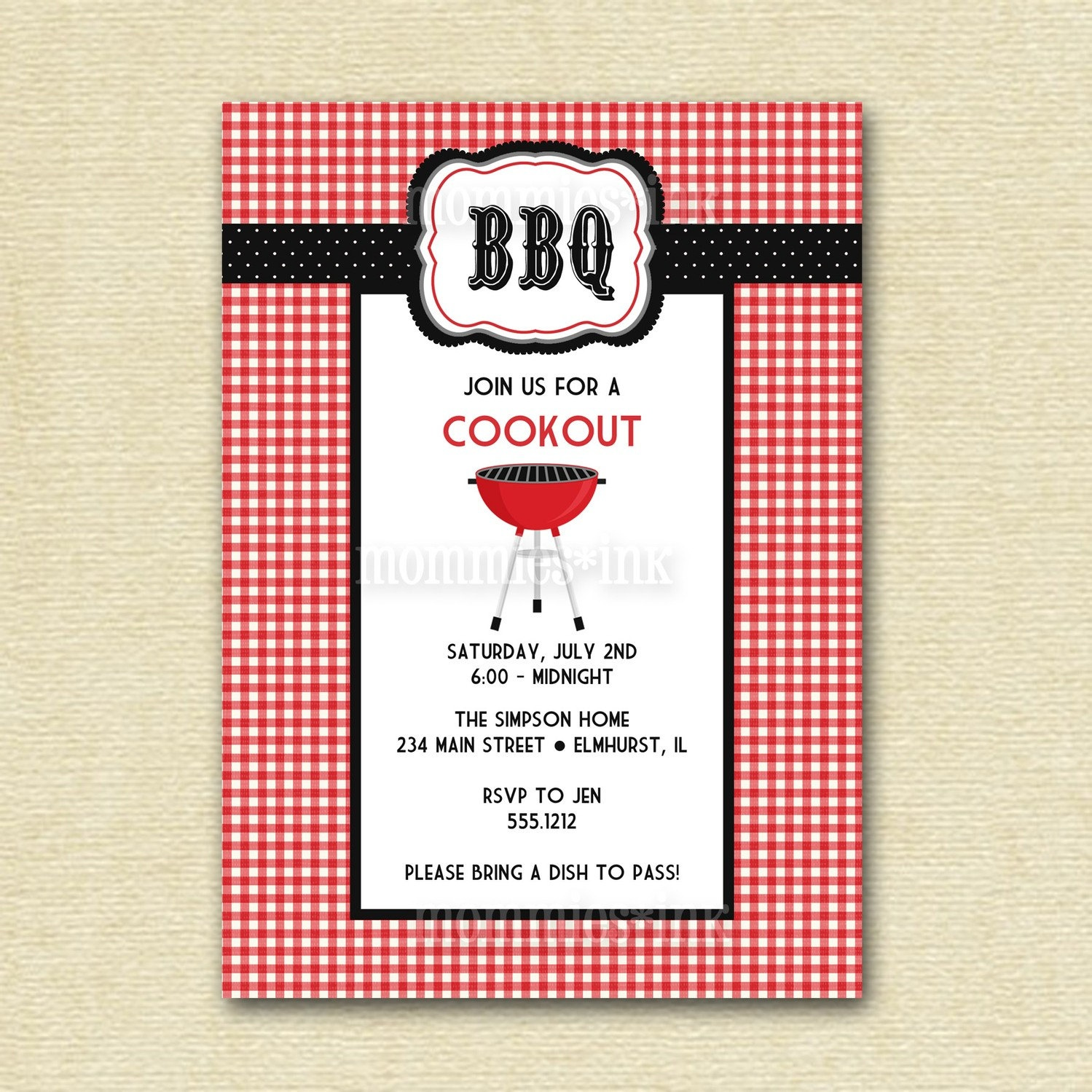 Free Bbq Invitation Templates - Free Printable Cookout Invitations