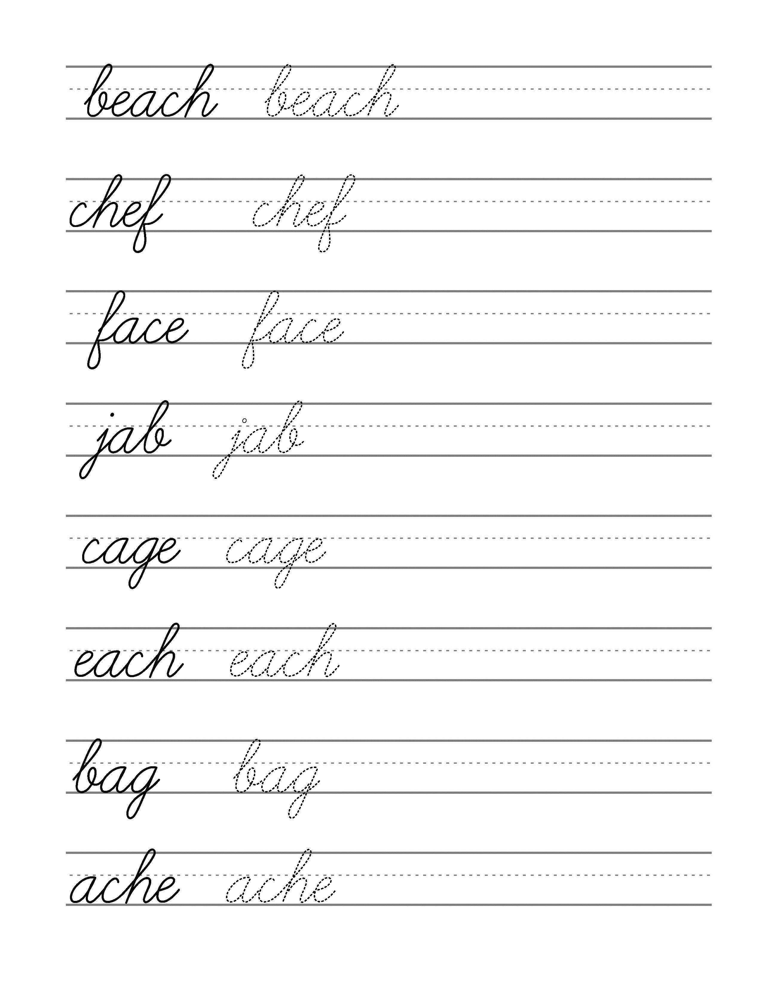 Free Beginning Cursive - Writing Template Part 3 | Writing | Writing - Free Printable Cursive Writing Paragraphs