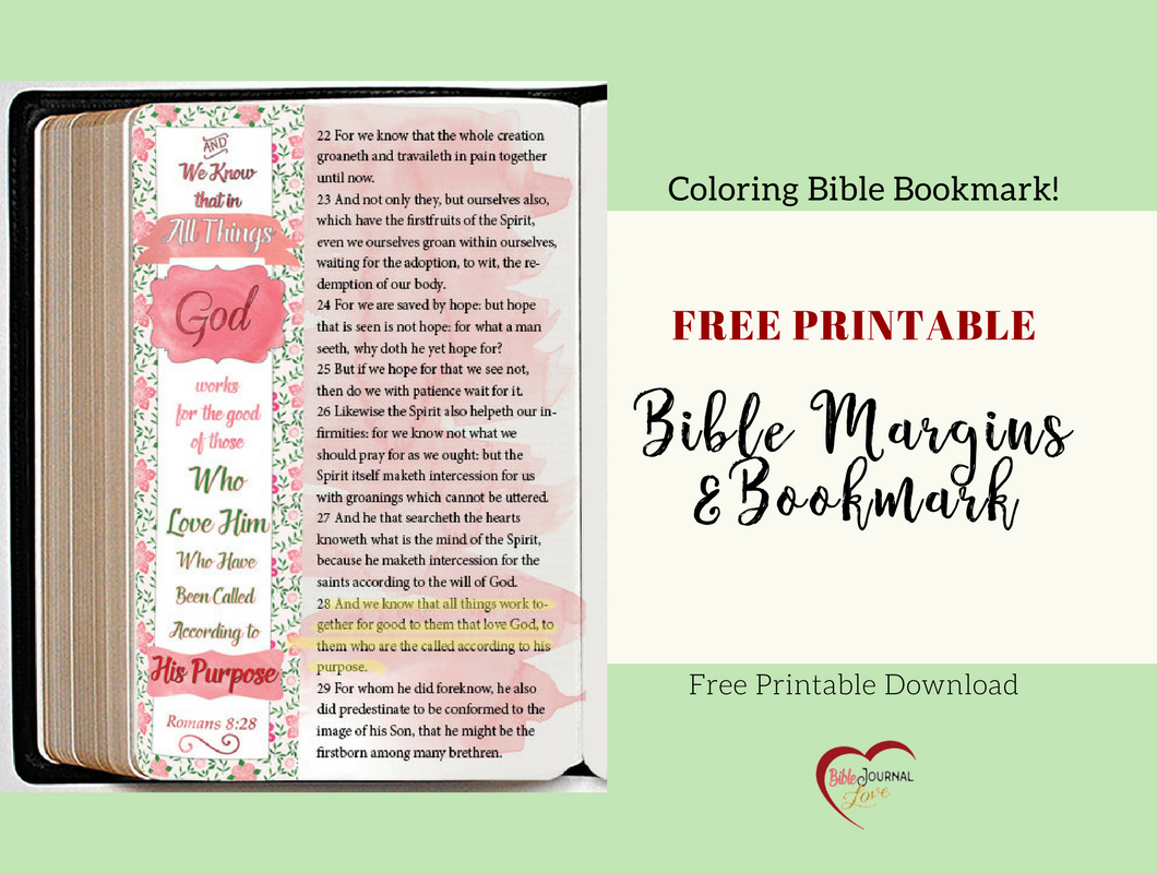 Free Bible Verse Coloring Bookmark Fits Bible Journal & Planner - Free Printable Bookmarks With Bible Verses