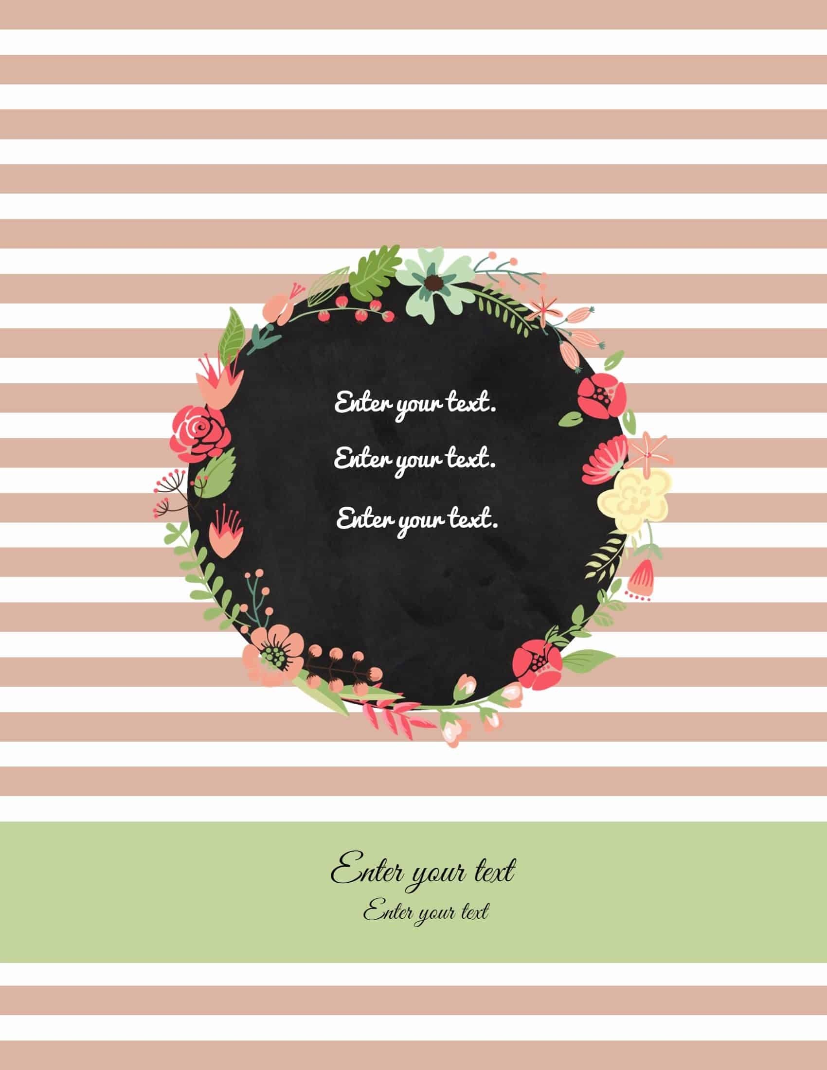 Free Binder Cover Templates   Customize Online & Print At Home   Free! - Free Printable Binder Covers
