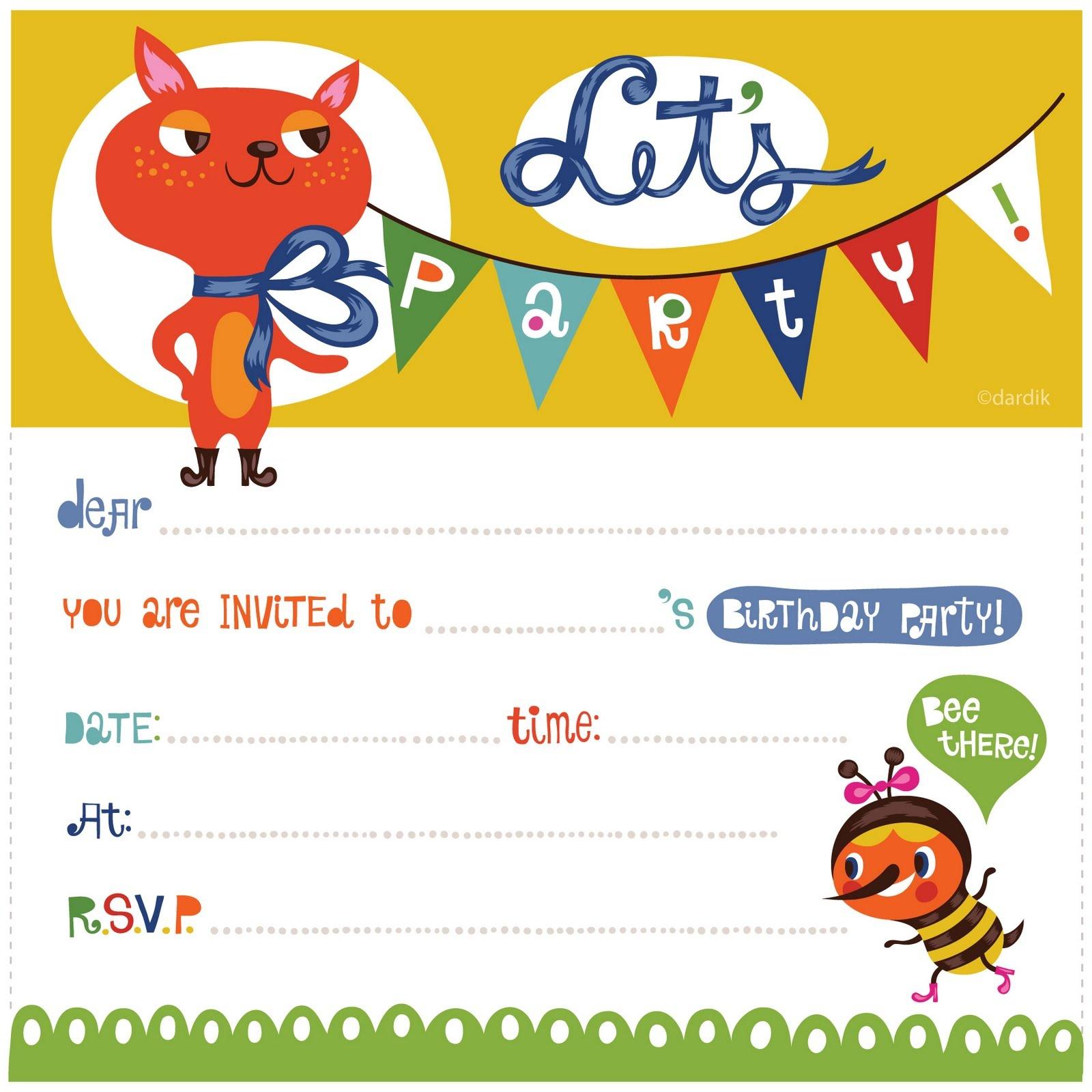 Free Birthday Printable Invitations — Birthday Invitation Examples - Free Printable Boy Birthday Invitations
