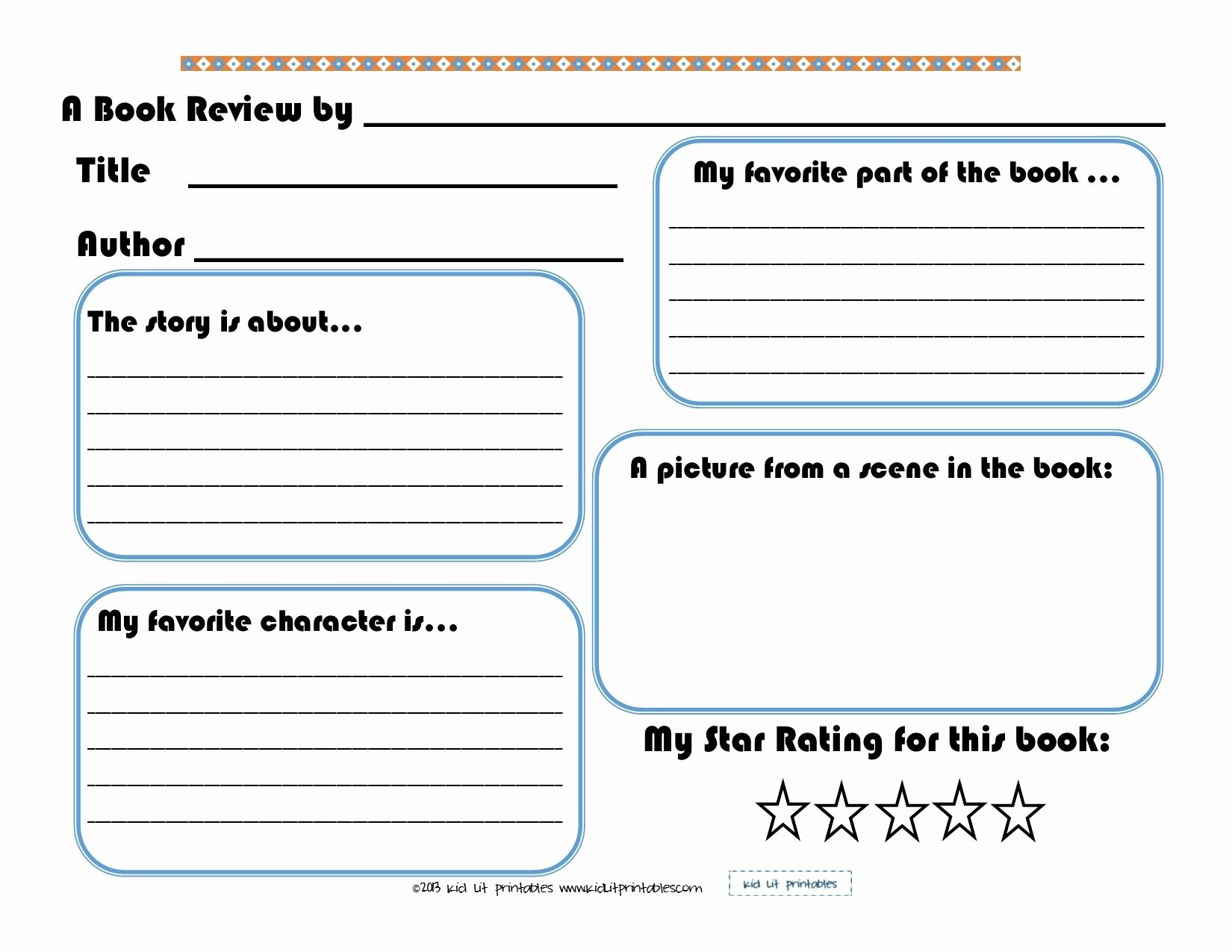 Free Book Report Template | Mathosproject - Book Report Template Free Printable
