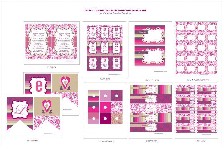 Free Bridal Shower Printable Decorations
