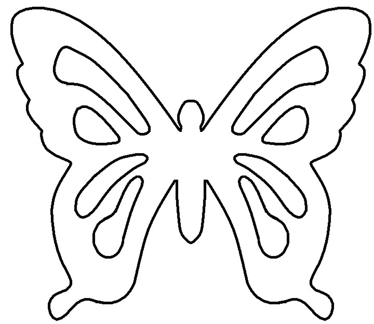 Free Butterfly Template, Download Free Clip Art, Free Clip Art On - Free Printable Butterfly Cutouts