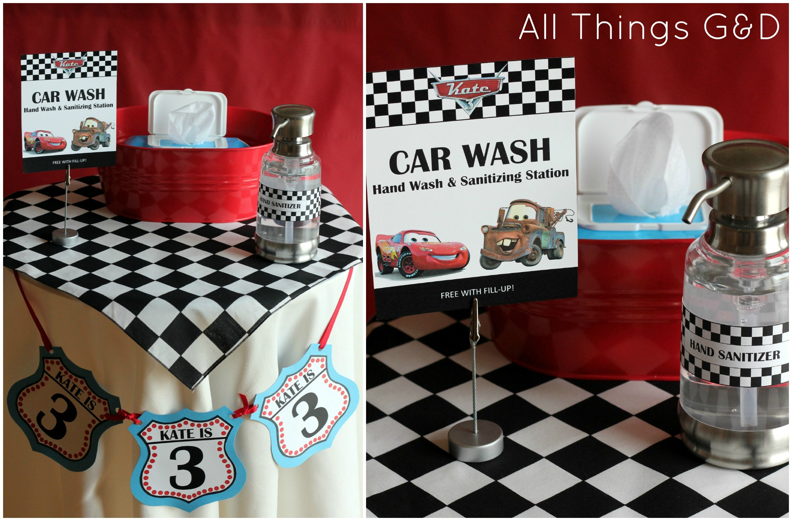 Free Cars Birthday Party Printables - Free Printable Cars Water Bottle Labels
