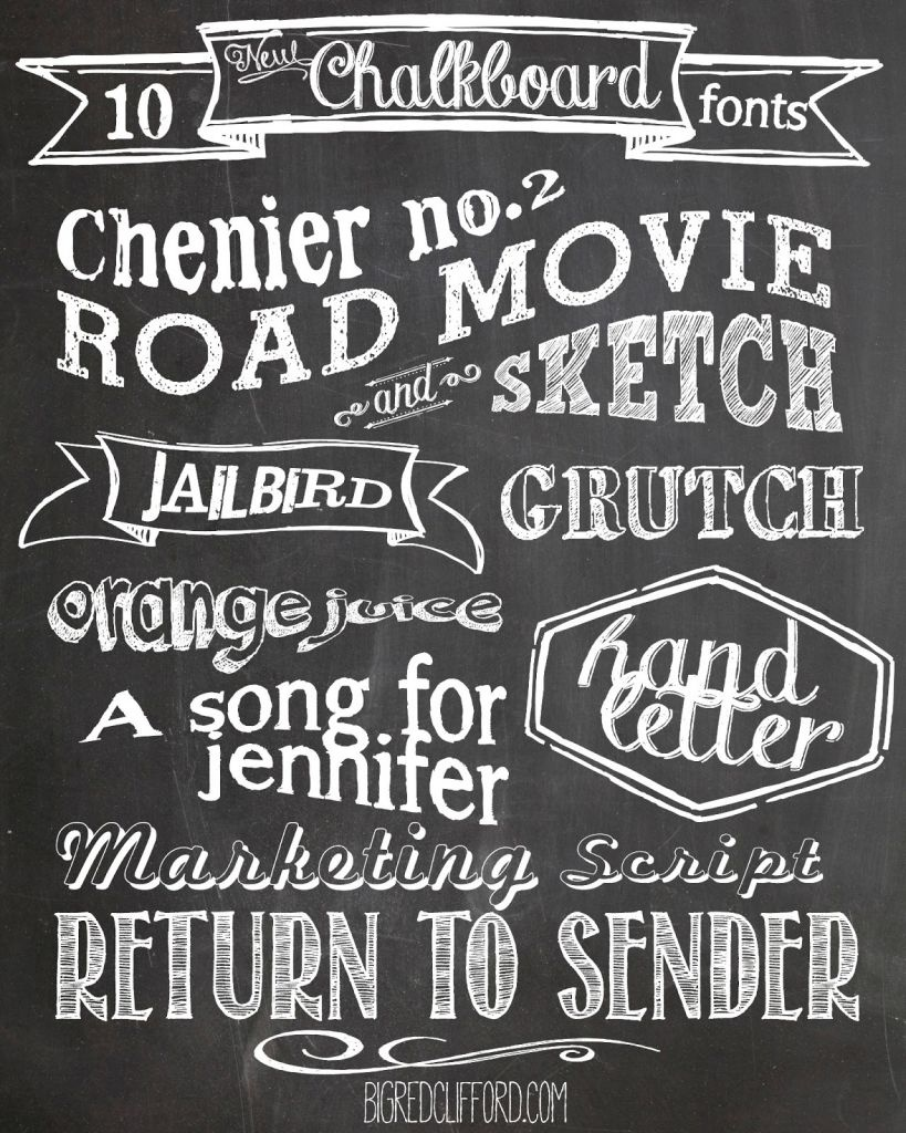 Free Chalkboard Fonts And Free Printable | Scrapbooking | Chalkboard - Free Printable Fonts No Download