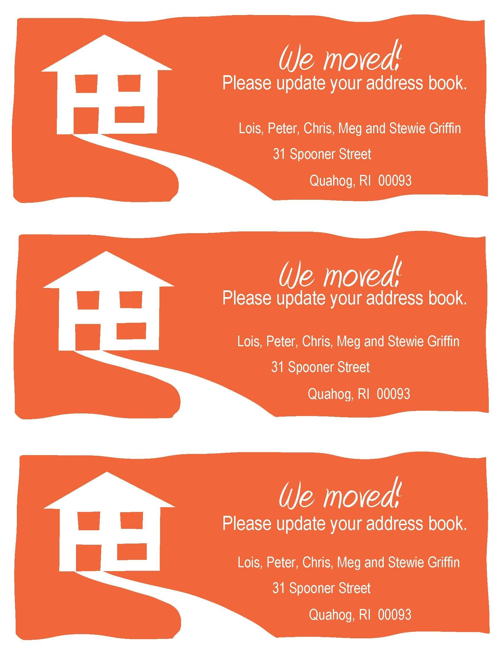 Free Change Of Address Cards - Tutlin.psstech.co - Free Printable Moving Announcement Templates
