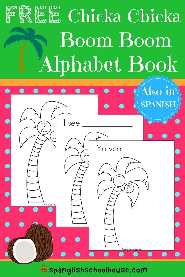 Free Chicka Chicka Boom Boom Printable Alphabet Book   Educational - Free Printable Spanish Books